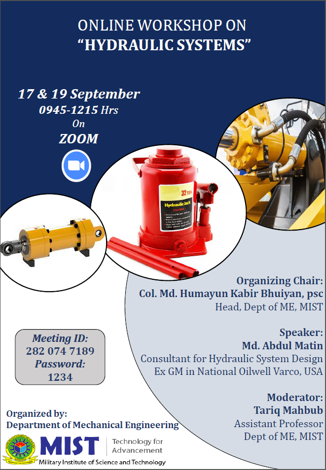 Online Workshop on Hydraulic Systems